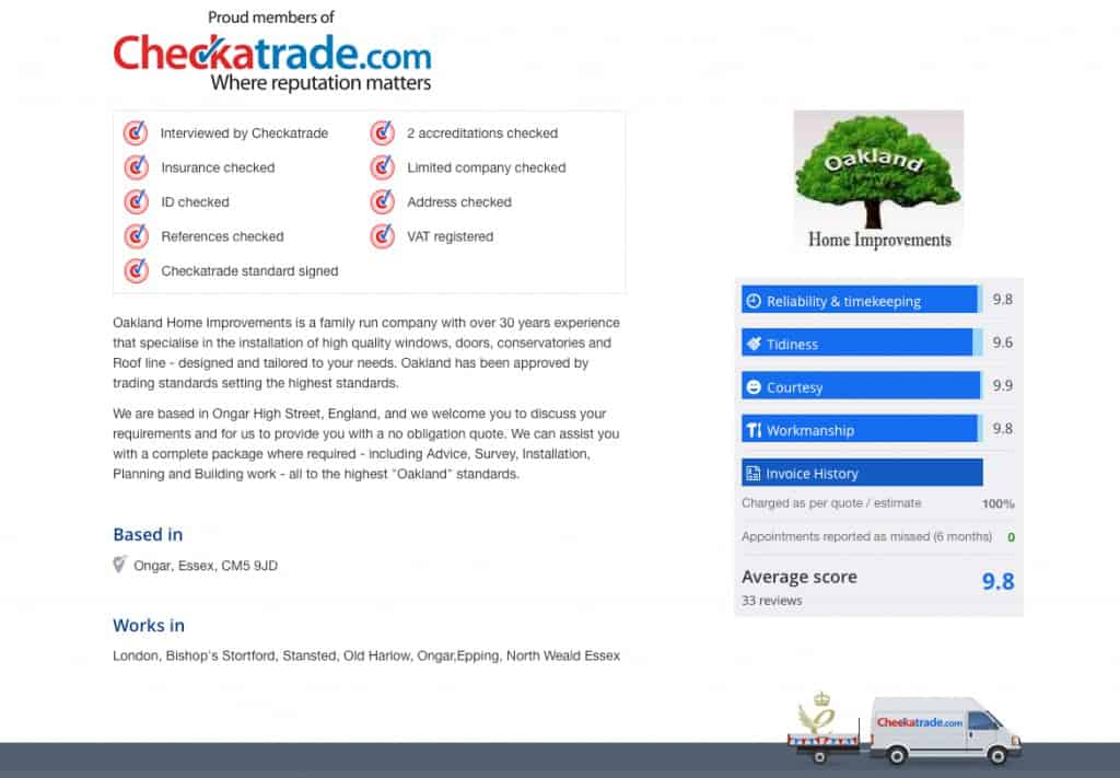 oakland checkatrade overview